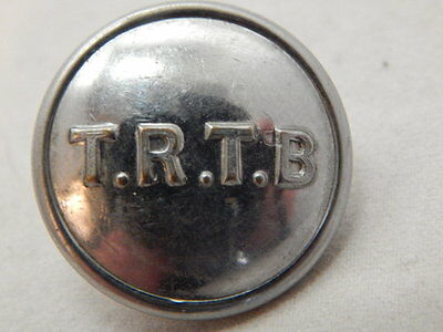VINTAGE T.R.T.B. TEES-SIDE RAILLESS TRACTION BOARD BUS BUTTON ~ 23mm DIAMETER