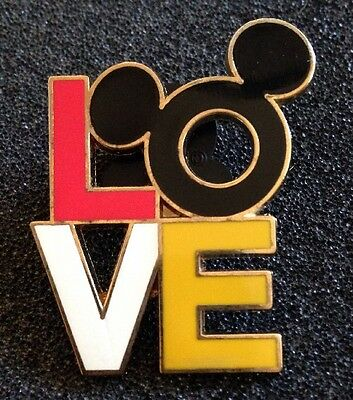 DISNEY PIN - Mickey Mouse Head Icon and Love