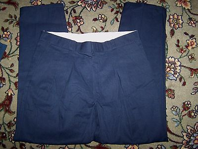 NEW-MEN's navy blue CASUAL FIT pleated front khaki DICKIES WORK PANTS SIZE 40X33
