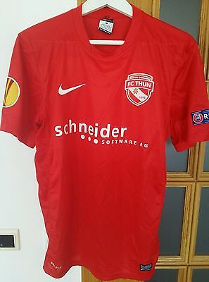 Fc Thun (Switzerland) Official Matchworn Home Shirt #10 **europa League**