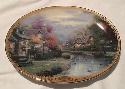 """Collector's Plate """"Lamplight Brooke"""" by Thomas Kinkade limited edition no. 8589H"""