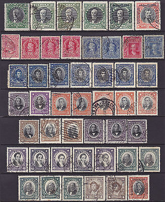 47 Chile 1900-1928 Definitive & Commemorative 2c-2p Used Stamps incl Overprints