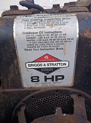 briggs and stratton 8hp engine