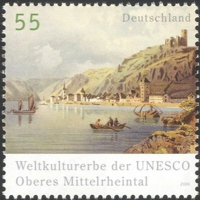 Germany 2006 UNESCO/River Rhine/Castle/Church Tower/Heritage/History 1v (n44534)