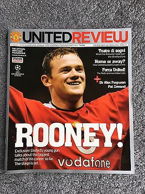manchester united football programme