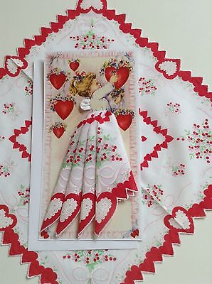 Darling Valentine Angel Hankie Card - Mailable