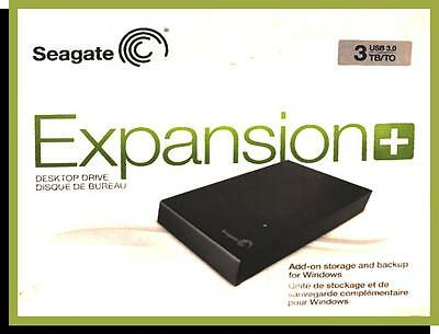 SEAGATE EXPANSOION + 3tb DESKTOP HARD DRIVE, (New - Sealed)