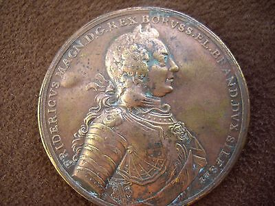 Antique Prussian Victory Medal Coin King Frederick 1757