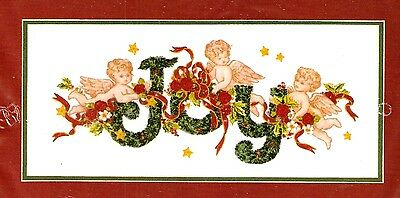 """Dimensions Ribbon Embroidery """"Joy"""" Christmas Angel Picture Kit"""