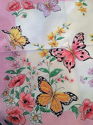 Stunning New Butterfly Floral Handkerchief!