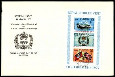 1977 Barbuda Jubilee Queen Elizabeth cachet first day cover