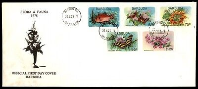 1978 Flora Fauna Barbuda illustrate cachet first day cover