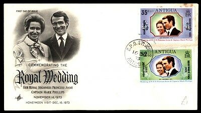 1973 Antigua Royal first day cover Capt. Mark Phillips first day cover