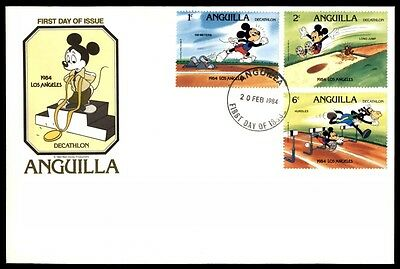 1984 Anguilla decathlon California Los Angeles first day cover with cachet
