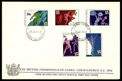 cook islands British Commonwealth games 1974 first day cover