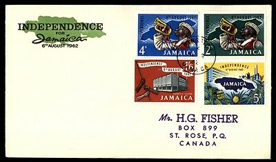 Jamaica 1962 Independence Cacheted FDC SG 193-196