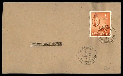 Seychelles 1952 3 Cents Giant Tortoist First Day cover FDC