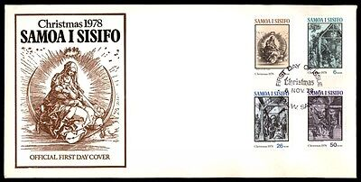 1978 Christma sSamoa Islands I Sisifo first-day cover illustrated