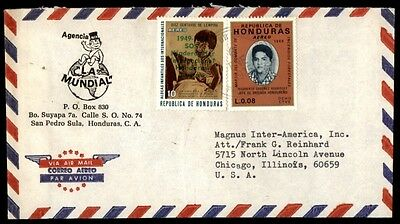 Honduras Mundial advertising cover to Chicago Illinois USA airmail