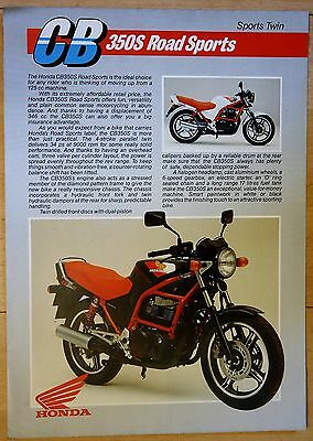 Honda Cb350S Sports Twin   Sales Brochure