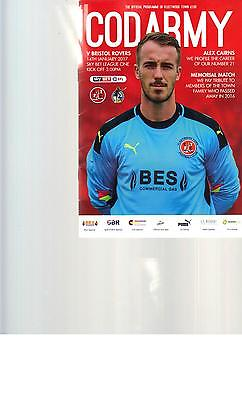 PROGRAMME - FLEETWOOD  TOWN v BRISTOL ROVERS - 14 JANUARY 2017