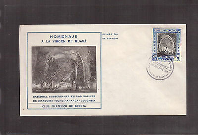 Colombia 1956 First Day Cover, # 653 Salt Mine Chapel !!