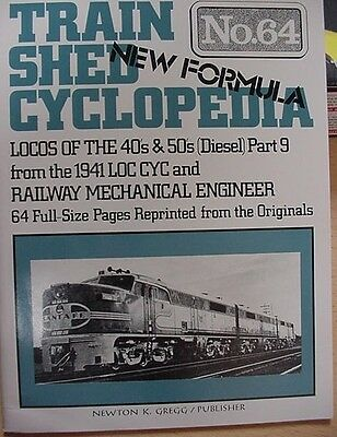 Train Shed Cyclopedia #64 Diesel Locomotives 1940- 1950's Part 9