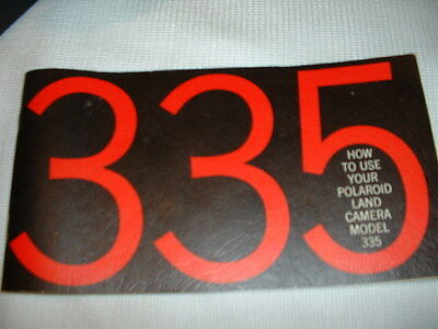 VINTAGE 335 Instruction Manual for Polaroid 335 Land Camera (Manual Only)