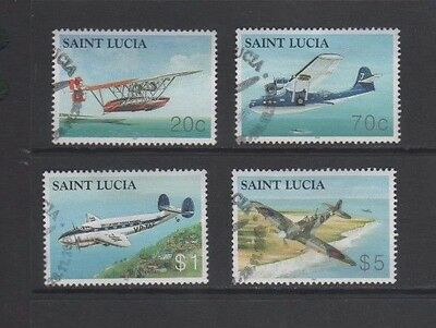 St Lucia 2003 Aircraft Used Set