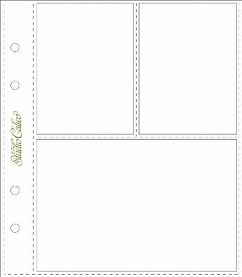 Classic Calico - 3 Pocket Page Protectors - 6pk - 7.25x8.25 Inch