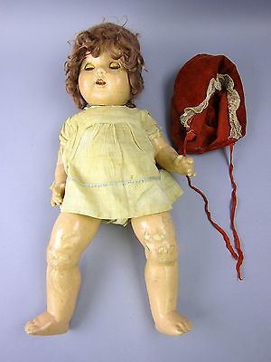 Antique/Vintage Composition Baby Doll with Rocking Eyes