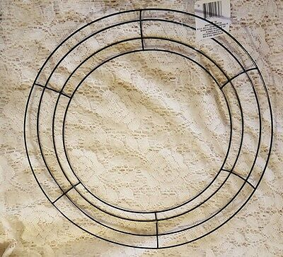 "14 1/2"" Round Metal Wreath Frame Ring DIY Macrame Floral Crafts Wire Form"