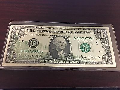 1977 Series A  $1 ONE DOLLAR BILL OFFSET PRINTING ERROR NOTE US CURRENCY