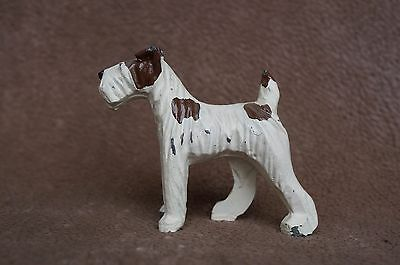 VTG Painted Metal FOX TERRIER Dog