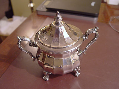William Rogers Silver Plated Footed Sugar Dish