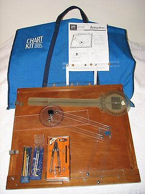 BBA Chart Kit Navigational Plotter Boating w/ Some Extras, Compass, Travel Bag