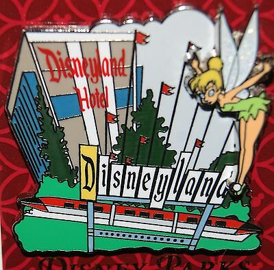 Disney 2015 Hotel Monorail Retro Tinker Bell Pin New On Card