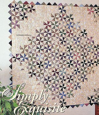 Simply Exquisite Quilt Pattern Pieced KE