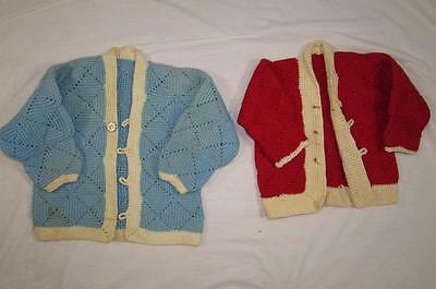 2 Vtg Children Infant Cardigan Sweater Work Wear 30s 40s 50s Salesman Sample Old