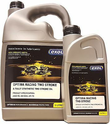 High Quality Two Stroke Engine Oil - 2T Fully Synthetic 6 Litres 6L LT - 5 + 1 L