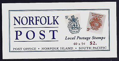 1997 Norfolk Island Seal & Arms Local Post Booklet Sb8 Fine Mint