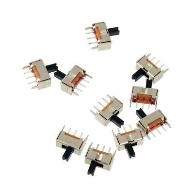 10Pcs On-Off SPDT Vertical 3-Pin 1P2T Mini Micro Vertical Slide Switch