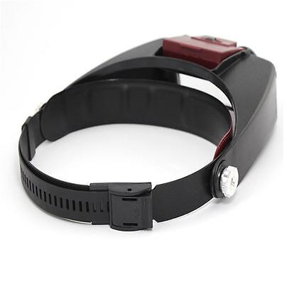 Headband Headset LED Head Lamp Light Jeweler Magnifier Magnifying Glass Loupe Y8