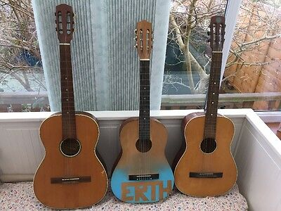 3 Parlour guitar Job Lot As Is See Pics Will Ship At Cost