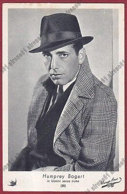 HUMPHREY BOGART 08 ATTORE ACTOR CINEMA MOVIE PEOPLE Cartolina Ediz. ELAH n° 39