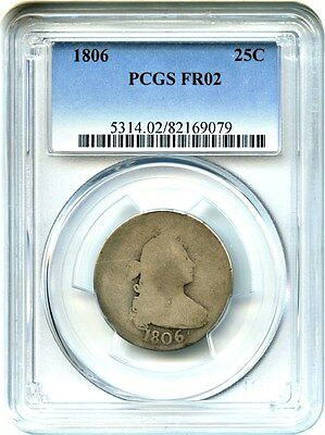 1806 25c PCGS FR02 - Great Early Type Coin - Bust Quarter