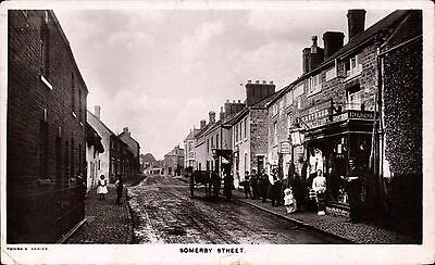 Somerby Street near Melton Mowbray in Towne's Series. Hill Brothers Shop.