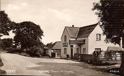 Willoughby near Alford. Railway Tavern # WLBY.9 by Tuck.