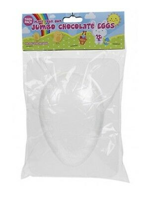 Twin Pack Make Your Own Easter Egg Chocolate Mould Jumbo Size Easter Egg Mould