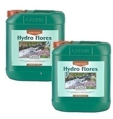Canna Hydro Flores A+B je 1L 5L 10L Stimulator Blüte-Phase Grow Indoor Outdoor